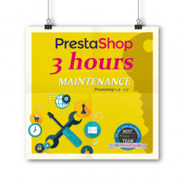Mantenimiento de PrestaShop - Paquete de 3 horas