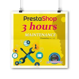 PrestaShop Maintenance - paquet de 3 heures